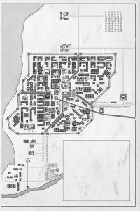 La Hispalis recreada en la novela. Plano realizado por Epicmaps