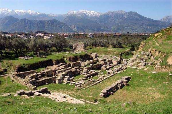 Guerras Mesenias: Ruinas de Esparta