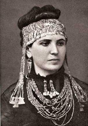 La esposa de Heinrich Schliemann