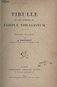 Copia de la edición francesa del corpus tibullianum
