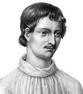 Retrato moderno de Giordano Bruno