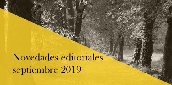 Novedades editoriales de septiembre 2019