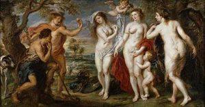 El juicio de Paris. Oleo de Rubens