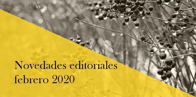 Novedades editoriales de febrero 2020