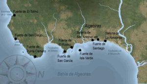Los fuertes españoles en la batalla de Algeciras