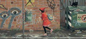 """""""La niña de rojo"""", Roberto Innocenti y Aaron Friosch (2013)"""