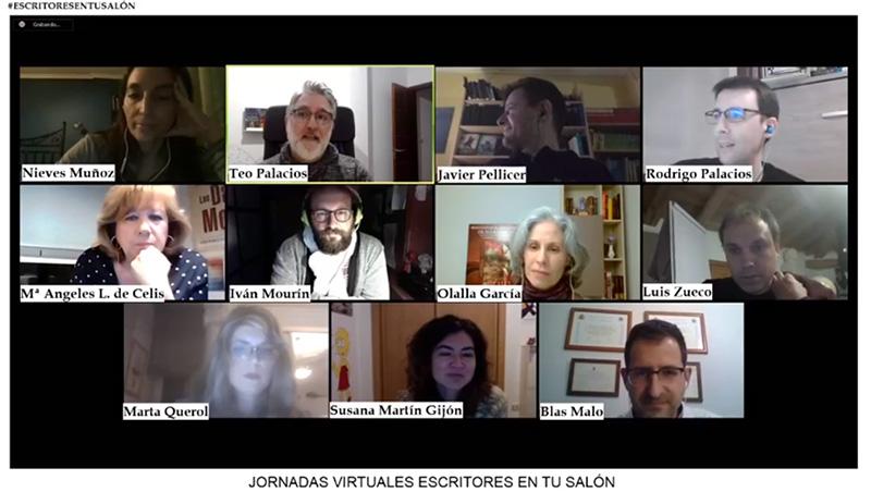 Conexión en directo para anunciar las I jornadas virtuales escritores en tu salón