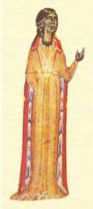 Miniatura que representa a la comtessa de Dia