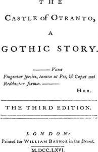 El castillo de Otranto. Portada de la tercera edición